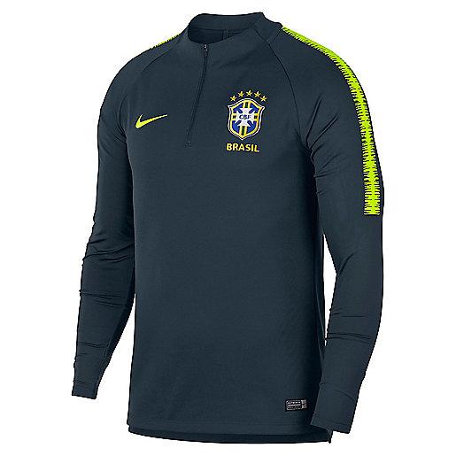4c736fd32a1d9 Haut d entraînement football manches longues homme Brésil 2018 Multicolore  893331 NIKE