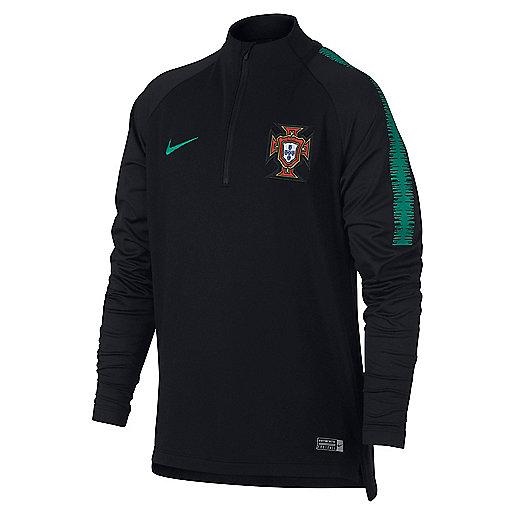 a4f143131f2e1 Haut d entraînement football zippé manches longues enfant Portugal 2018  893705 NIKE