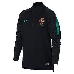 e9a9a381639b6 Haut D entraînement Football Zippé Manches Longues Enfant Portugal 2018 NIKE