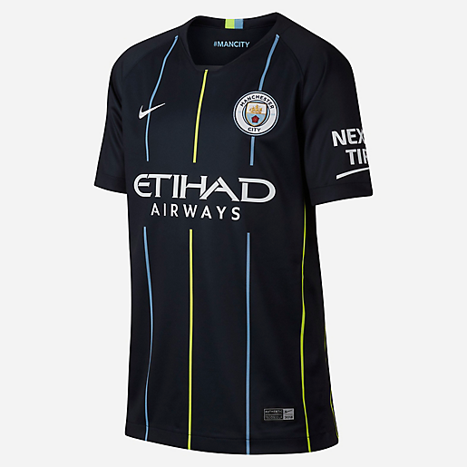 Maillot manches courtes enfant Breathe Manchester City FC Away Stadium  NIKE