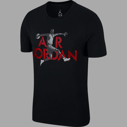 Shirt Courtes Nike T Stencil Jordan Homme Air Manches 4LRj35A