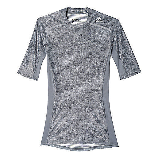 T-shirt de training manches courtes homme Techfit Chill gris AI3330  ADIDAS