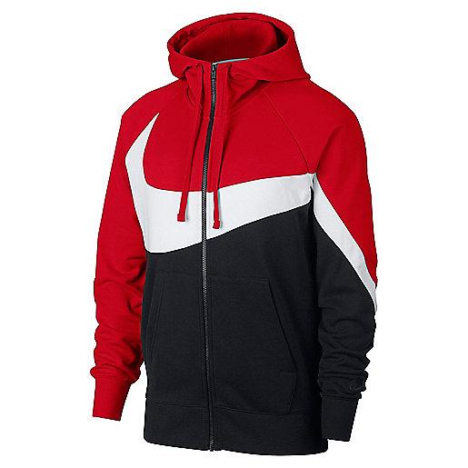 735ead5aa18 Veste à capuche homme Sportswear Ft Statement Multicolore AR30841 NIKE