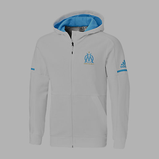 Sqd Intersport Om Football Blanc Veste Adidas Homme Anth 01qIR