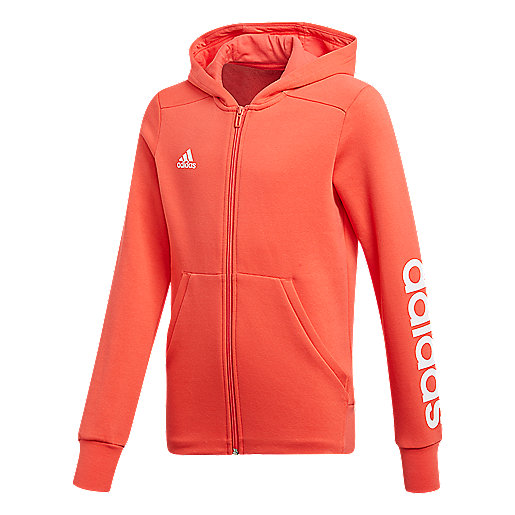 Stripes Fille Capuche 3 À Essentials Zippée Veste Adidas xhCtQrsd