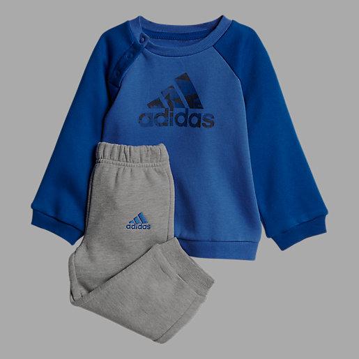 aac65f5708d00 Ensemble survêtement bébé garçon Logo Jogging en molleton de coton ADIDAS