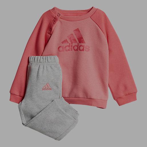 6b7f8898f2218 Ensemble survêtement bébé fille Logo Jogging en molleton de coton ADIDAS
