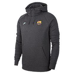 sweat shirt homme fc barcelone gfa flc po hood cl nike
