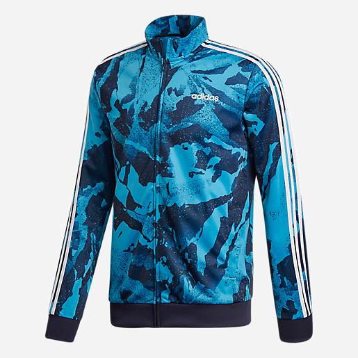 Homme De Stripes Veste Survêtement Essentials 3 Imprimée Adidas f7gyYb6v