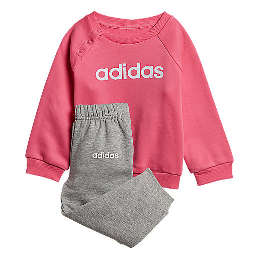 6c766aa869323 Ensemble survêtement bébé en molleton Linear Jogger Multicolore DV1287  ADIDAS
