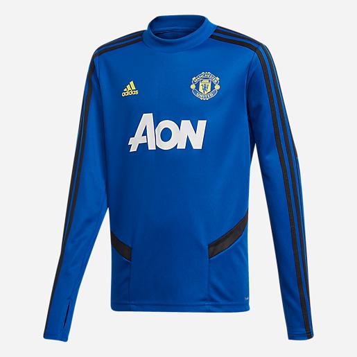 closer at wholesale dealer many fashionable Maillot d'entraînement enfant Manchester United 18/19 ADIDAS