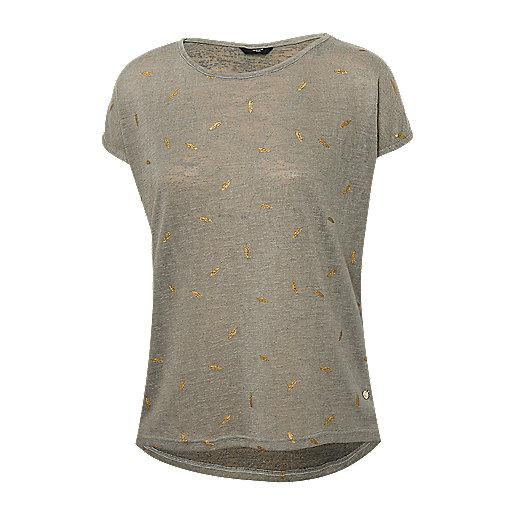 6aa5e114368e6e T-shirt manches courtes femme Plume Multicolore INT110W DEELUXE
