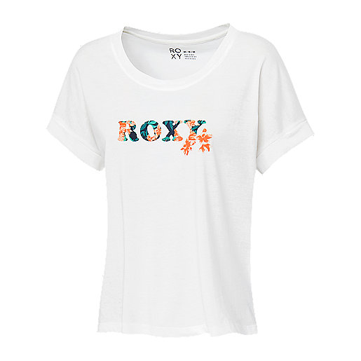 4fd337cd4ed54 T-shirt manches courtes femme Island Tropics Multicolore KT03541 ROXY
