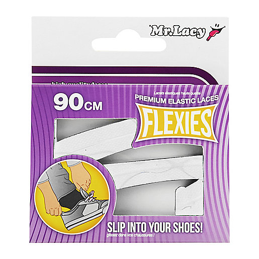 Lacets Flexies Blanc ML134   MR LACY
