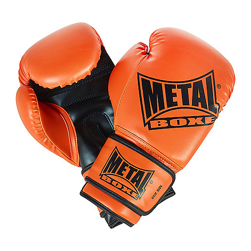 Gants de boxe MB 200 noir-orange MN204O  METAL BOXE