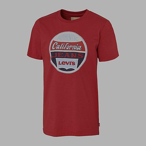 34ce7564bc07f Tee-shirt Garçon California rouge LEVIS KID   INTERSPORT