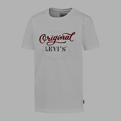 tee shirt gar on original blanc levis kid intersport. Black Bedroom Furniture Sets. Home Design Ideas