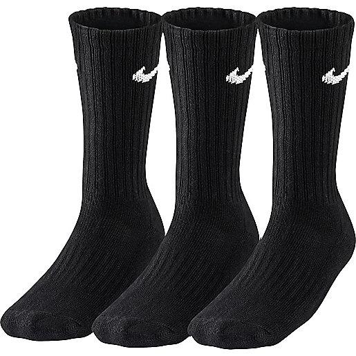 f27f56328ea2e Lot de 3 paires de chaussettes adulte Cushion Crew Noir SX4508 NIKE