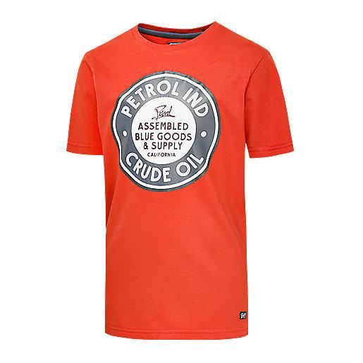70d7d9e2335f4 T-shirt manches courtes enfant Mika Multicolore TSR003 PETROL